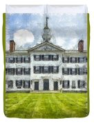 Dartmouth College Hanover New Hampshire Pencil Duvet Cover