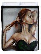 Dasha. Little Black Dress.  Duvet Cover