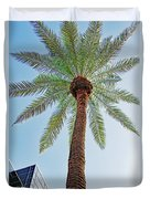 Date Palm In The City Duvet Cover