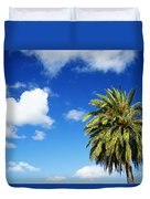 Date Palm Treetop Duvet Cover