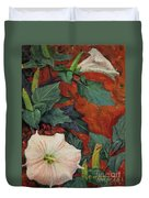 Datura Flower Duvet Cover