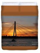 Daugava Sunset. Riga. Latvia Duvet Cover