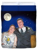 Dave And Sue Duvet Cover