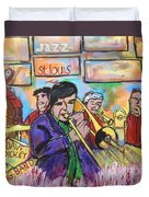 Dave Dickey Big Band Duvet Cover