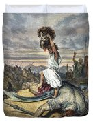 David And Goliath Duvet Cover