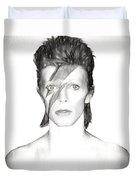 David Bowie Charcoal  Duvet Cover