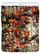 David Bowie Collage Mosaic Duvet Cover