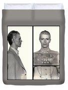 David Bowie Mugshot 1976 Duvet Cover