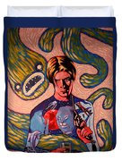 David Bowie Song Reference Painting Duvet Cover