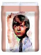 David Bowie Teenager Aquarelle  Duvet Cover