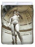 David By Michelangelo Pencil Duvet Cover