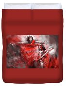 David Lee Roth And Eddie Van Halen Jump Duvet Cover