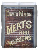 David Mann - Meats And Provisions Duvet Cover
