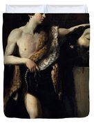 David With The Head Of Goliath 1606 Duvet Cover