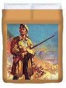 Davy Crockett  Hero Of The Alamo Duvet Cover