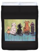 Dawg Outhouse Duvet Cover
