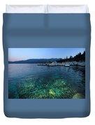 Dawn Arrives At Lake Tahoe  Duvet Cover