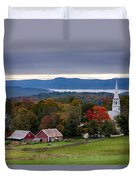 dawn arrives at sleepy Peacham Vermont Duvet Cover