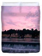 Dawn At Boathouse Row Duvet Cover by Bill Cannon