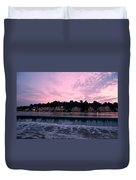 Dawn At Boathouse Row Duvet Cover