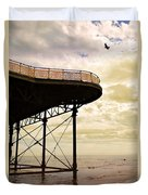 Dawn At Colwyn Bay Victoria Pier Conwy North Wales Uk  Duvet Cover