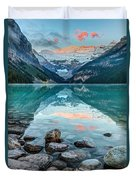 Dawn At Lake Louise Duvet Cover