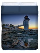 Dawn At Marshall Point Duvet Cover