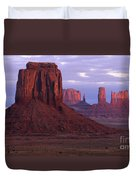 Dawn At Monument Valley Duvet Cover