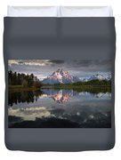 Dawn At Oxbow Bend Duvet Cover