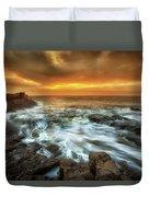 Dawn At Porthcawl Duvet Cover