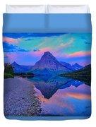Dawn At Two Medicine Lake Duvet Cover