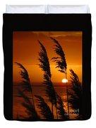 Dawn Grasses Duvet Cover
