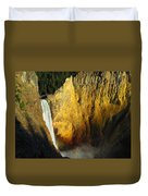 Dawn, Lower Falls Of The Yellowstone Duvet Cover