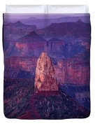 Dawn Mount Hayden Point Imperial North Rim Grand Canyon National Park Arizona Duvet Cover by Dave Welling