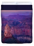 Dawn Mount Hayden Sunrise North Rim Grand Canyon Arizona Duvet Cover by Dave Welling