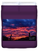 Dawn On The Farm Duvet Cover