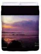 Dawn On The Mississippi Duvet Cover