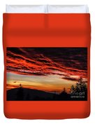Dawn Over Big Spruce Knob Duvet Cover