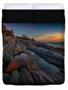 Dawn Over Pemaquid Point Duvet Cover
