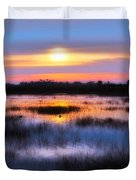 Dawn Over The Salt Marsh Duvet Cover
