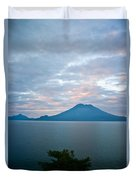 Dawn Over The Volcano 4 Duvet Cover