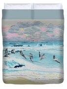 Dawn Pelicans Duvet Cover