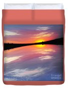 Dawn Sky And Water Duvet Cover