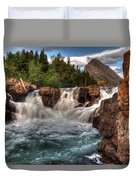 Dawn Upon Swiftcurrent Falls  Duvet Cover