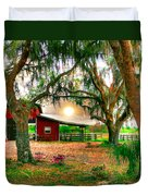 Dawning At The Barn Duvet Cover