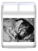 Dawn's A Coming Open Your Eyes - Lions Duvet Cover
