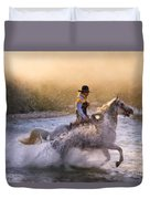 Dawn's Misty Waters Duvet Cover