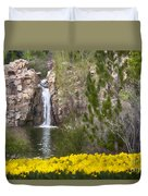 Day At The Falls Duvet Cover