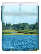 Day At The Wetlands Duvet Cover