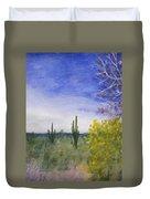Day In Arizona Desert Duvet Cover